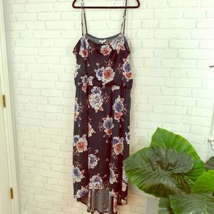 Floral high low maurices dress size 3X!